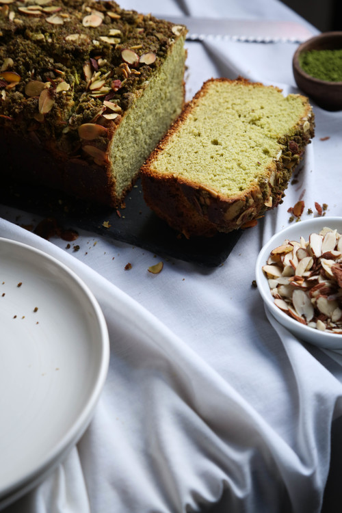 Matcha Almond Breakfast Cake