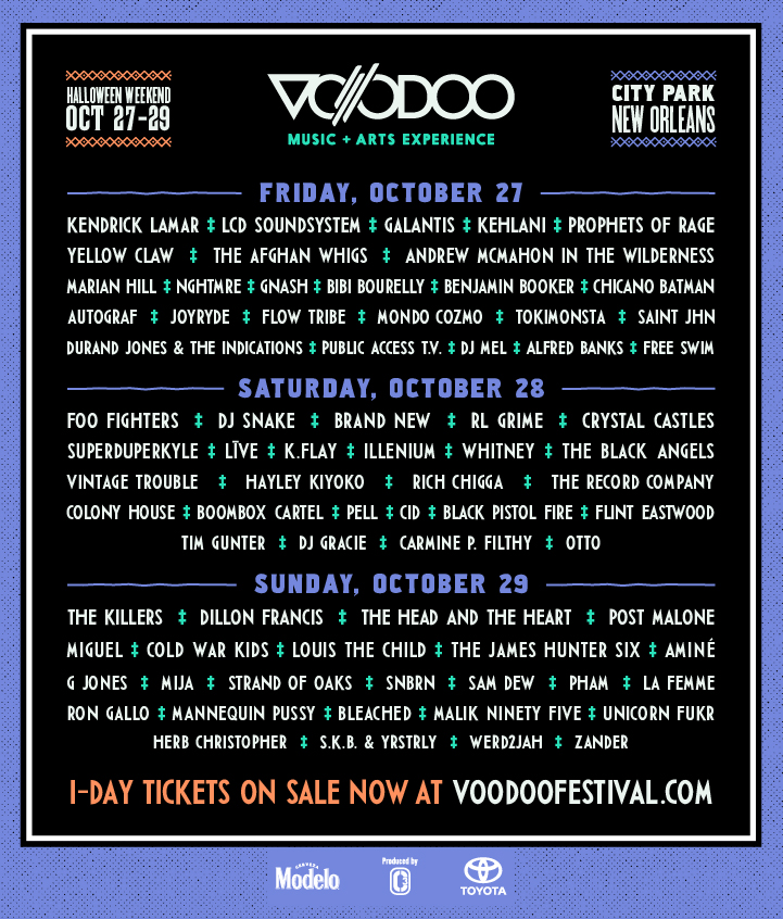 Voodoo Music + Arts Experience Releases Lineup By Day