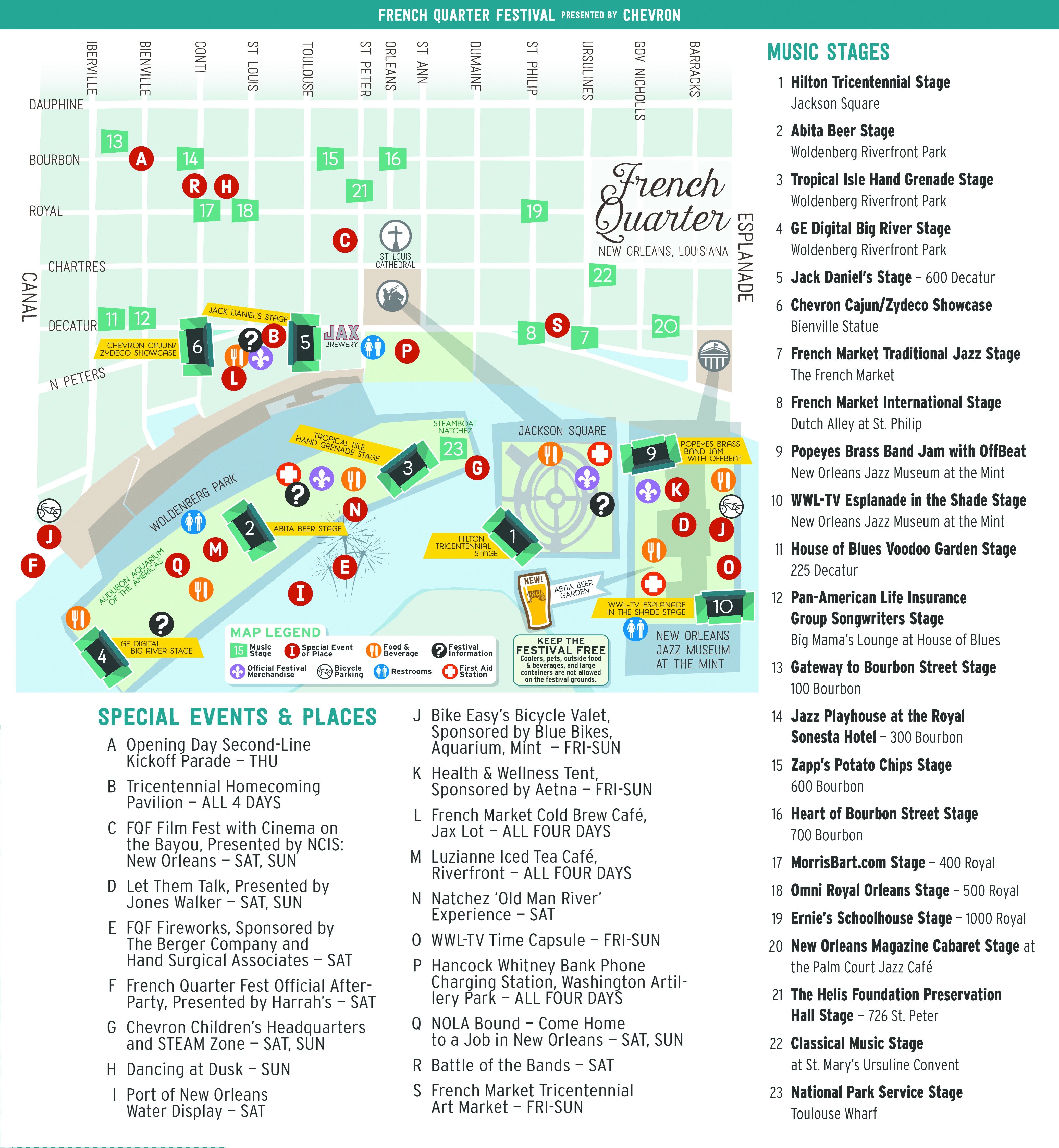 Click Here For Your 2018 French Quarter Fest Map Where Y At