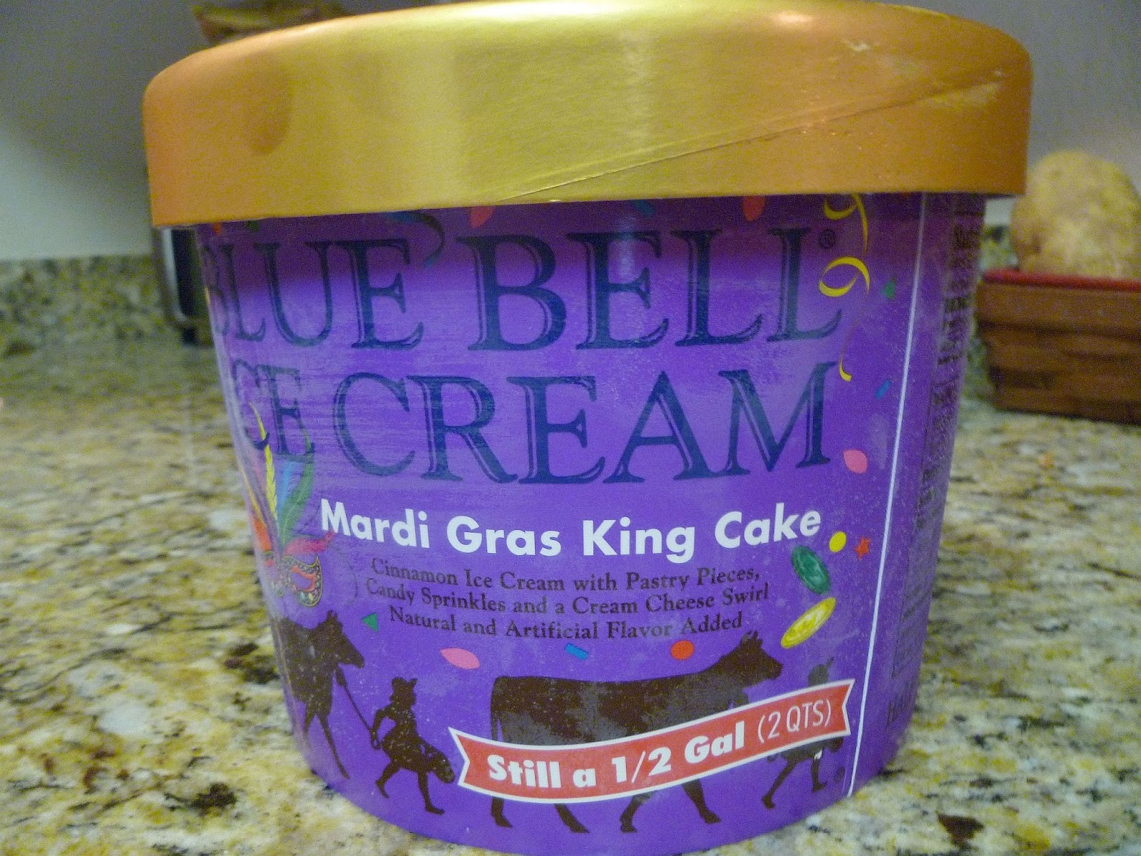 Blue Bell's Mardi Gras King Cake Ice Cream Kicks Off Carnival Nationwide