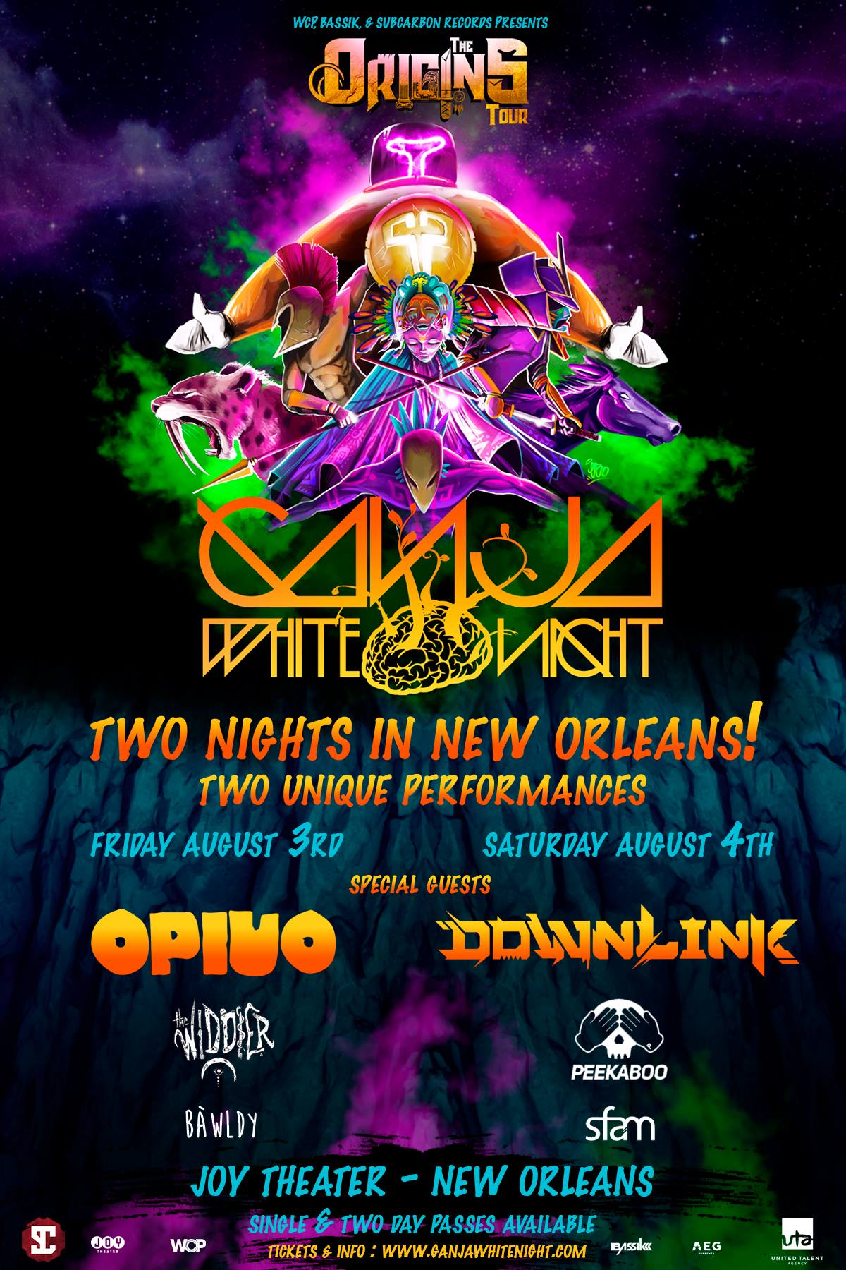 Ganja White Night Hosts Double-Header With Heavy Openers at Joy Theater This Weekend, August 3-4