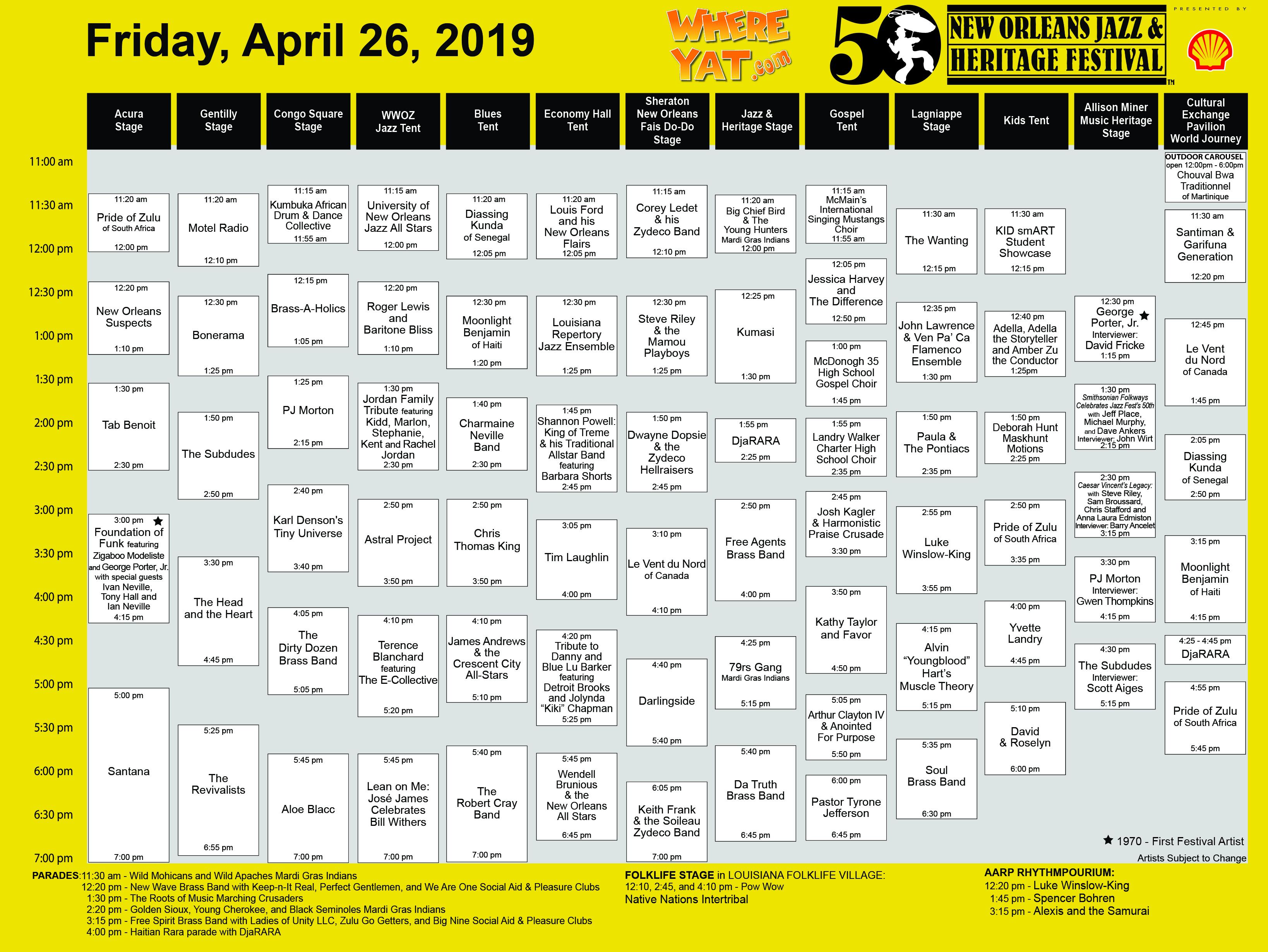 Jazz Fest 2019: Top Picks for Friday, April 26