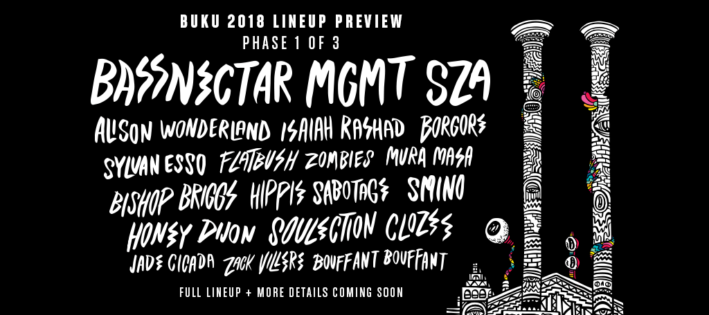 BUKU Music & Art Project 2018 Phase 1 Lineup Has Been Announced