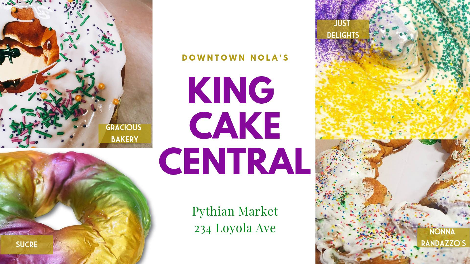 Pythian Market To Host King Cake Pop Up Shop