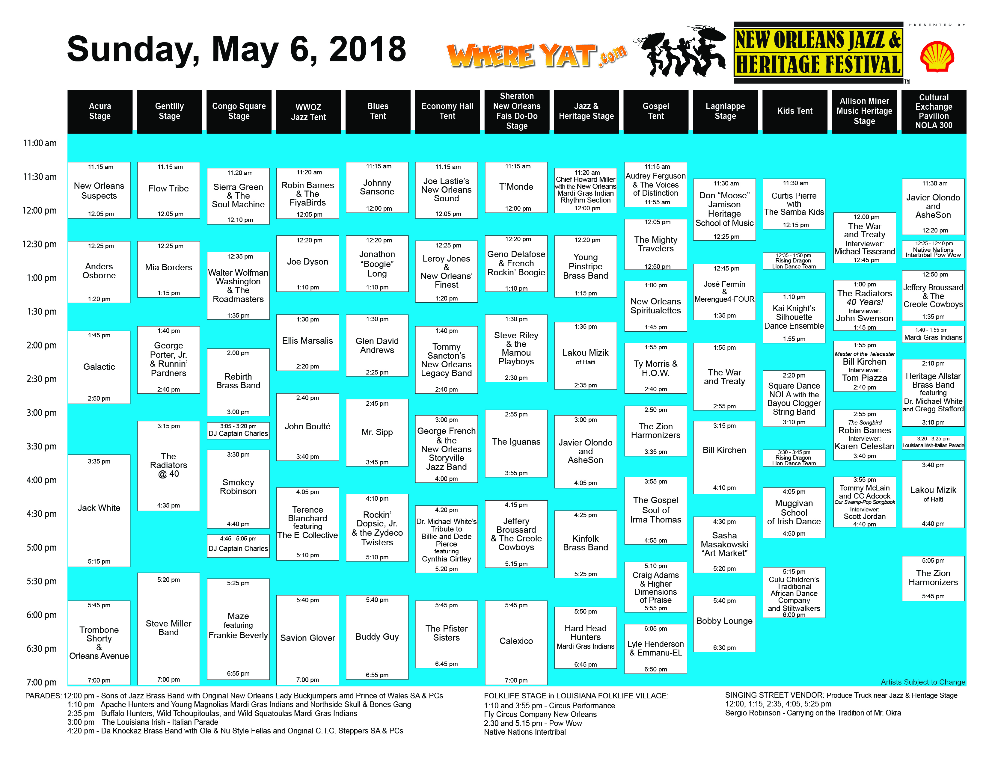Click Here For Your 2018 Jazz Fest Cubes!