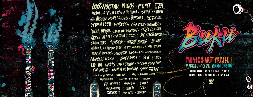BUKU Music & Art Project Announces More 2018 Lineup Additions